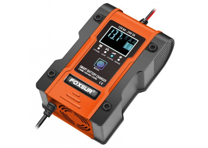 Автомобільний зарядний пристрій Foxsur FBC122406D 24V 3A / 12V 6A