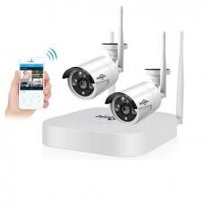 Комплект WiFi відеоспостереження Hiseeu 2ch 960P (2HB612)