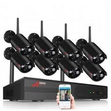 Комплект WiFi відеоспостереження Anran 8сh 1080P (AR-03NB)