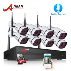 Комплект WiFi видеонаблюдения Anran 8сh 1080P (K08W2-S360)
