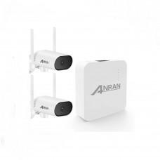 Комплект WiFi відеоспостереження Anran 2сh 3MP (K04J20-DW18-P) з поворотними камерами