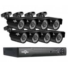 Комплект відеоспостереження Hiseeu 8ch AHD-2MP 1080P Outdoor (8AHBB12-P)