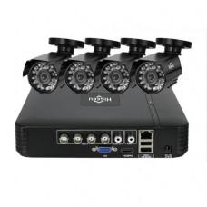 Комплект відеоспостереження Hiseeu 4ch AHD-2MP 1080P Outdoor (4AHBB12-P)