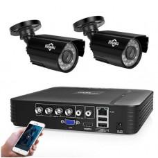 Комплект відеоспостереження Hiseeu 2ch AHD-2MP 1080P Outdoor (2AHBB12)