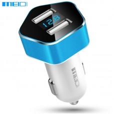 Автомобільний зарядний Meidi Dual USB Smart LED