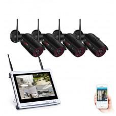 Комплект WiFi відеоспостереження Anran 4сh + 12