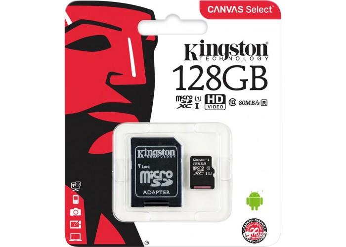 Kingston microSDHC Class 10 128Gb