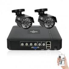 Комплект відеоспостереження Hiseeu 2ch AHD-1MP 720P Outdoor (2AHBB10)