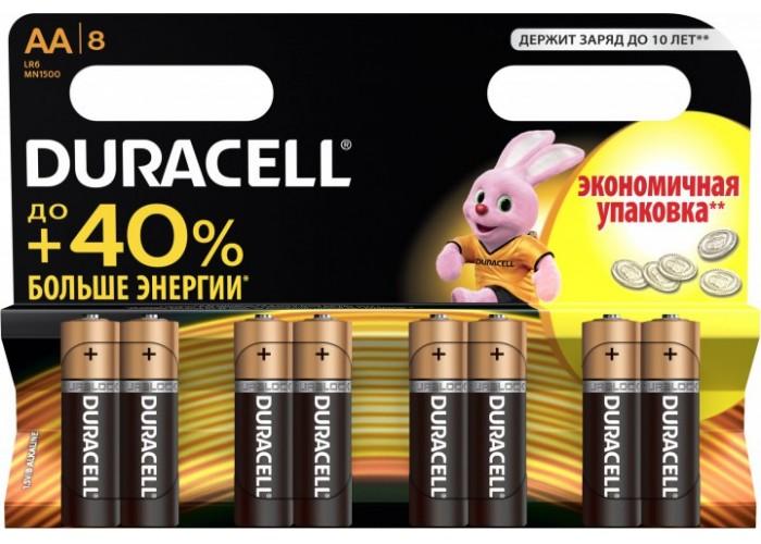 Батарейки (8 шт) Duracell AA LR06 MN1500